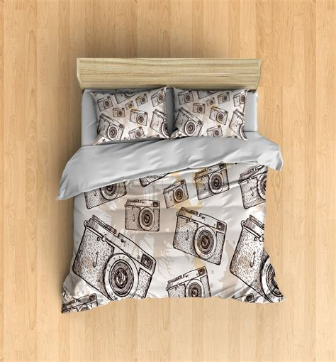 hipster bed comforters camera bedding set hipster bedding camera duvet and pillow