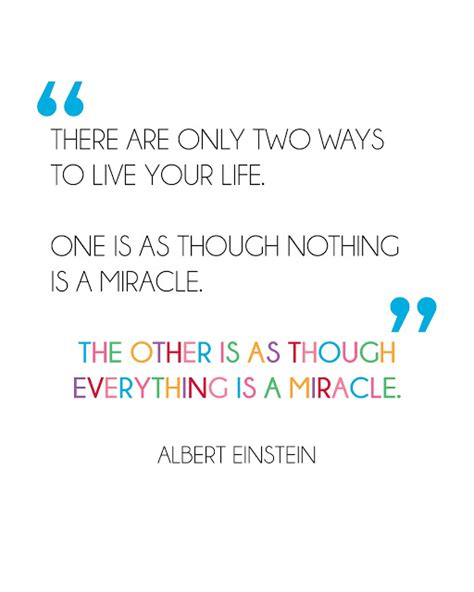 printable quotes albert einstein printablewisdom freebie friday everything is a miracle