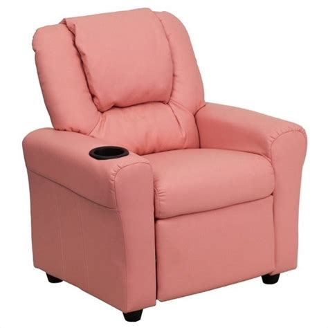 pink recliner chair kids faux leather recliner in pink dg ult kid pink gg