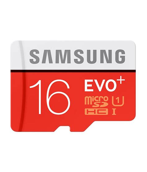 Memory Card 16 Giga samsung evo plus 16 gb microsdhc class 10 80 mb s memory card memory cards at low
