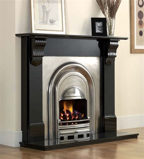 Fireplace Surround Materials by Black Fireplace Surround Agnews Athena Black Granite