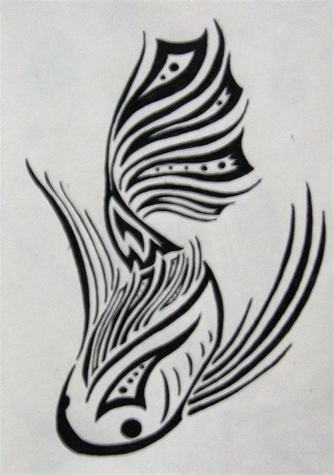 tribal koi fish tattoo meaning tribal koi fish tattoos tribal koi by silveraquila
