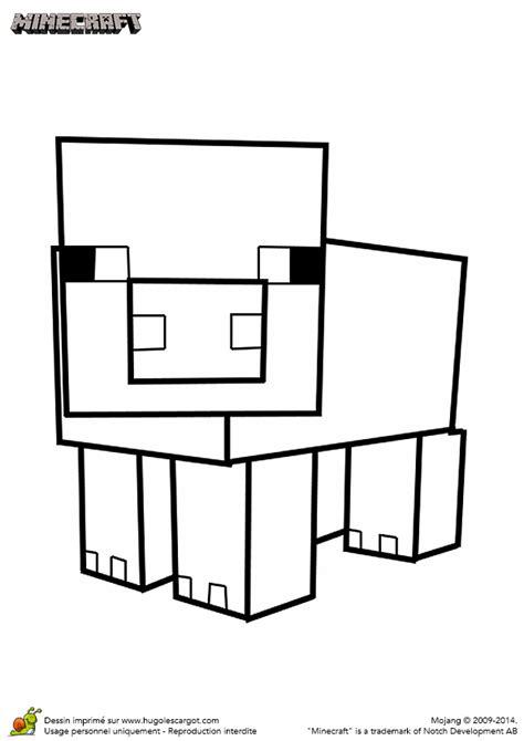 minecraft coloring pages baby pig coloriage du cochon du jeu minecraft hugolescargot com