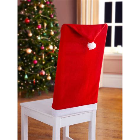 b m santa s hat chair covers 2pk christmas decorations