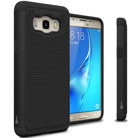 black for samsung galaxy j5 2016 hybrid phone