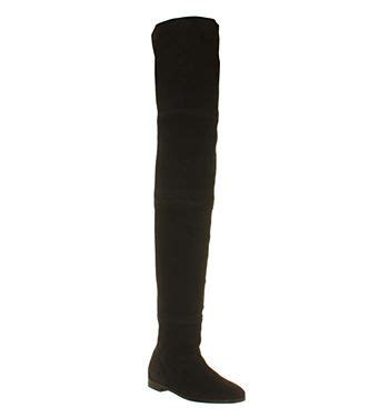 office 2 high thigh high boot black suede