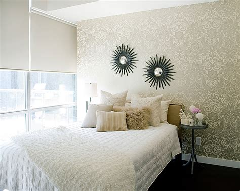 damask bedroom decor gold damask wallpaper contemporary bedroom jessica