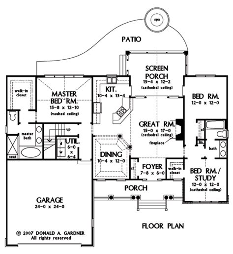 house plans with butlers pantry home plan the carrollton by donald a gardner architects