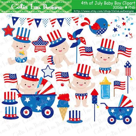 baby boy fourth of july 4th of july baby boy clipart patriotic day clipart