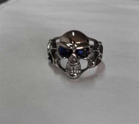 Skull Ring Titanium Sr 003 shenzhen factory investment ring titanium skull