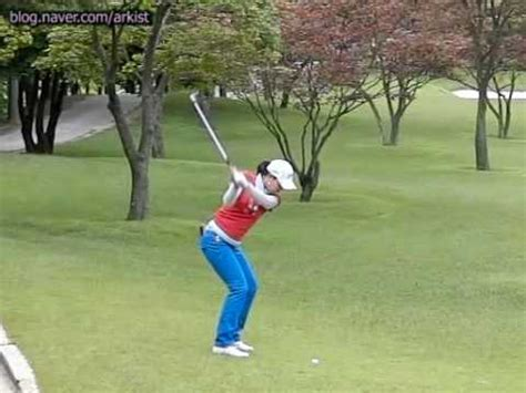 golf swing irons slow motion 300fps seo hee kyung slow motion iron golf swing 2