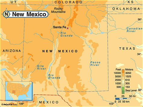physical map of new mexico emf protection devices
