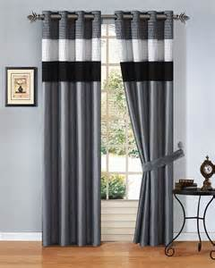 Grey Black And White Curtains 12pcs Black White Grey Striped Comforter Set Window Curtain Size
