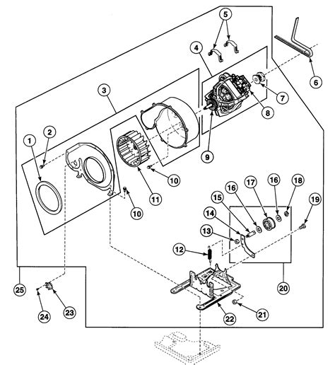 speed dryer parts diagram motor assy diagram parts list for model sde107lf speed
