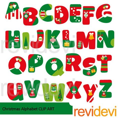 printable letters christmas christmas alphabet clipart mygrafico