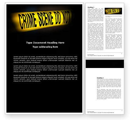 crime templates crime word template 03883 poweredtemplate