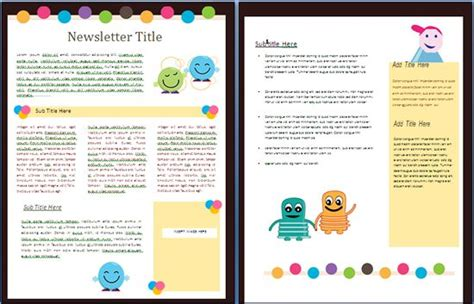 nursery newsletter template 17 best images about i newsletter templates on