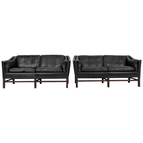 high quality leather sofas pair of danish 1960s high quality leather sofas grandt