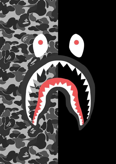 Iphone X Supreme Bape Shark Camo Pattern Cyan Hardcase resultado de imagen para bape shark logo ben bape shark and wallpaper