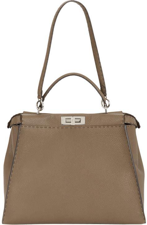 An It Bag by Fendi Medium Selleria Peekaboo Bag In Brown Lyst
