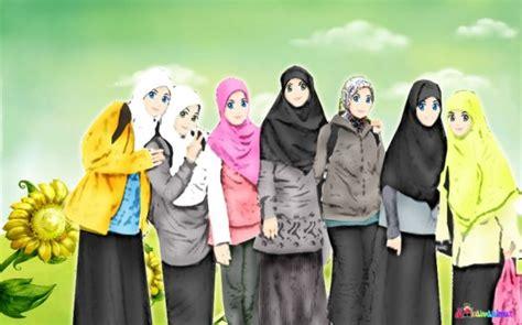 doodle pasangan kawasan damya koleksi kartun muslimah yang menawan hati