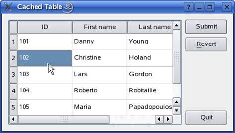 qt5 custom layout qt 4 7 cached table exle