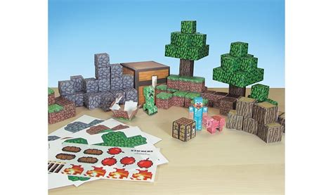 Minecraft Deluxe Papercraft - minecraft papercraft overworld deluxe pack