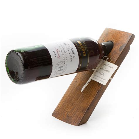 wine holder barrel stave balancing wine bottle holder by phil rao