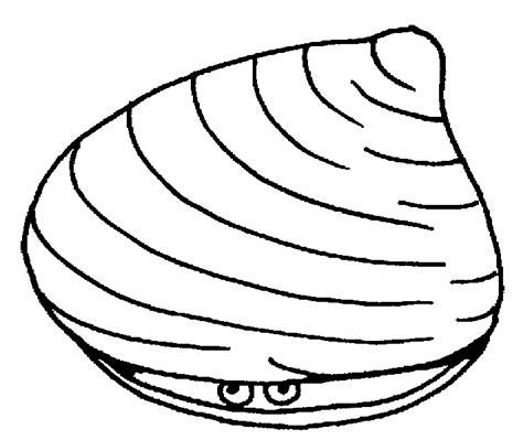 clam coloring pages getcoloringpages com