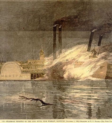 steamboat explosion steamboats on the ohio river the filson historical society