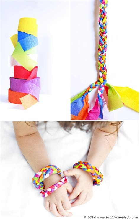 Crafts Using Crepe Paper - design for crepe paper bracelets babble dabble do