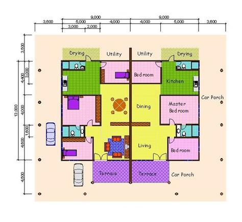 single storey semi detached house floor plan myhouse com my house real estate and property for sale