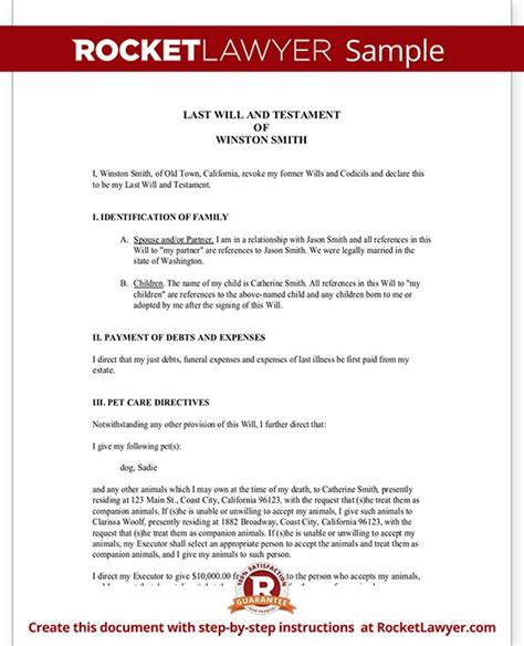 Best 25 Will And Testament Ideas On Pinterest Last Will And Testament Wills And Trusts And Best Free Last Will And Testament Template