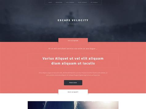 escape velocity template pixelarity spectacular responsive site templates