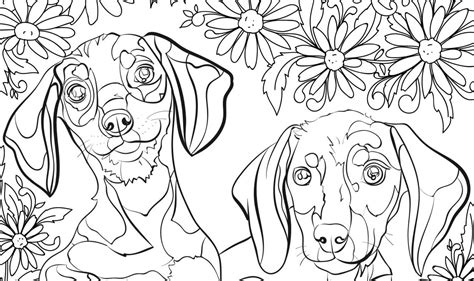 coloring pages for adults with anxiety destress with free dog coloring pages