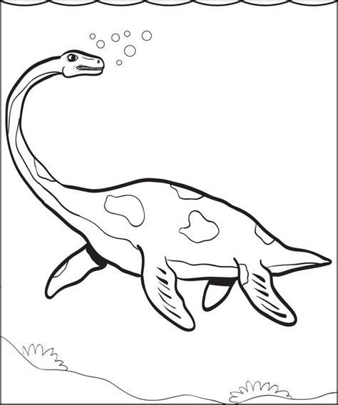 sea dinosaurs coloring pages free printable plesiosaur dinosaur coloring page for kids