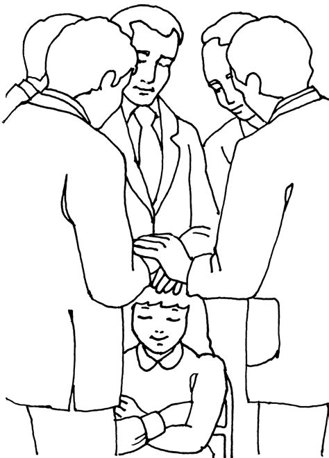 Lds Coloring Pages Blessings | priesthood blessing