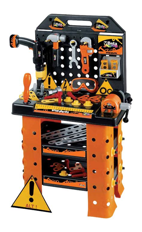 tool bench for toddlers beta tools childrens kids tool kit electric drill toy work bench play set 9547ws ebay