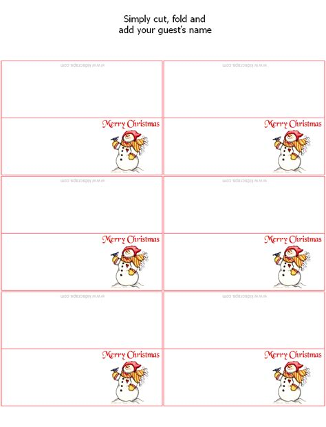 place card printing template pin by on holidays