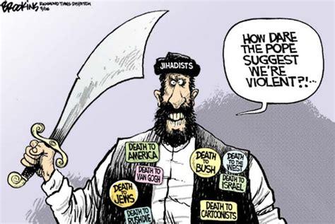 film cartoon islamic slapstick politics pope vs islam the cartoons