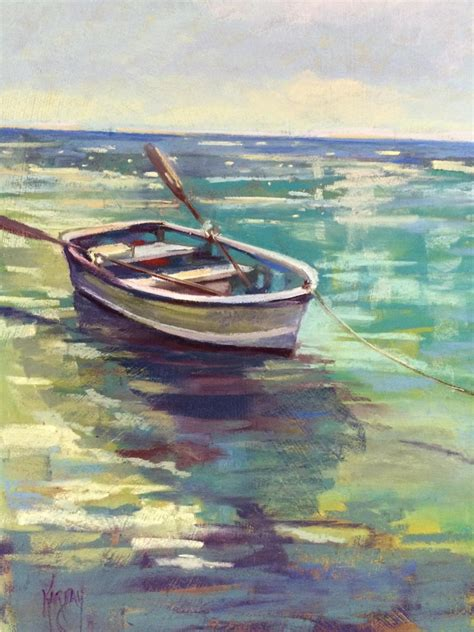 bluewater boats website painting quot blue water and boat quot original art by joanna