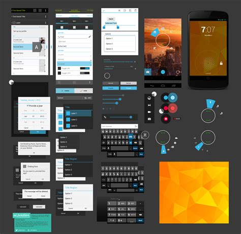 free android design templates free android ui design kit psd nexus 4 gui free psd