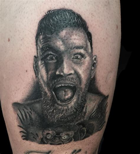 conor mcgregor tattoo portrait jesus good 2pac tattoos and more from portrait tattoo