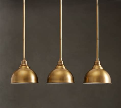 Metal Bell Pendant Light Pb Classic 3 Light Pendant Metal Bell Pottery Barn