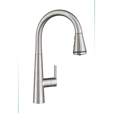 kitchen faucets with sprayer in head american standard edgewater single handle pull down