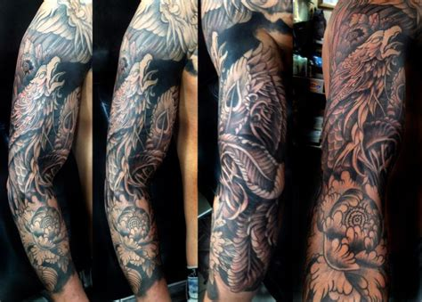 phoenix sleeve tattoo designs sleeve претрага tattoos