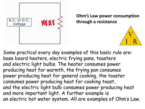 power consumption in resistor ppt ohm s magic triangle powerpoint presentation