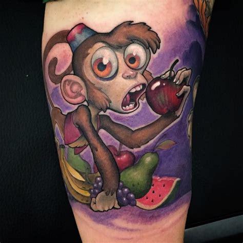 tattoo monkey cartoon abu monkey tattoo new school tattoo pinterest monkey