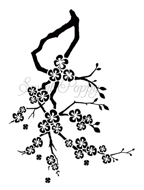 blossom template cherry blossom flower stencil www imgkid the image