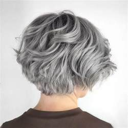 front and back pictures of hairstyles for gray hair 50 cute and easy to style short layered hairstyles